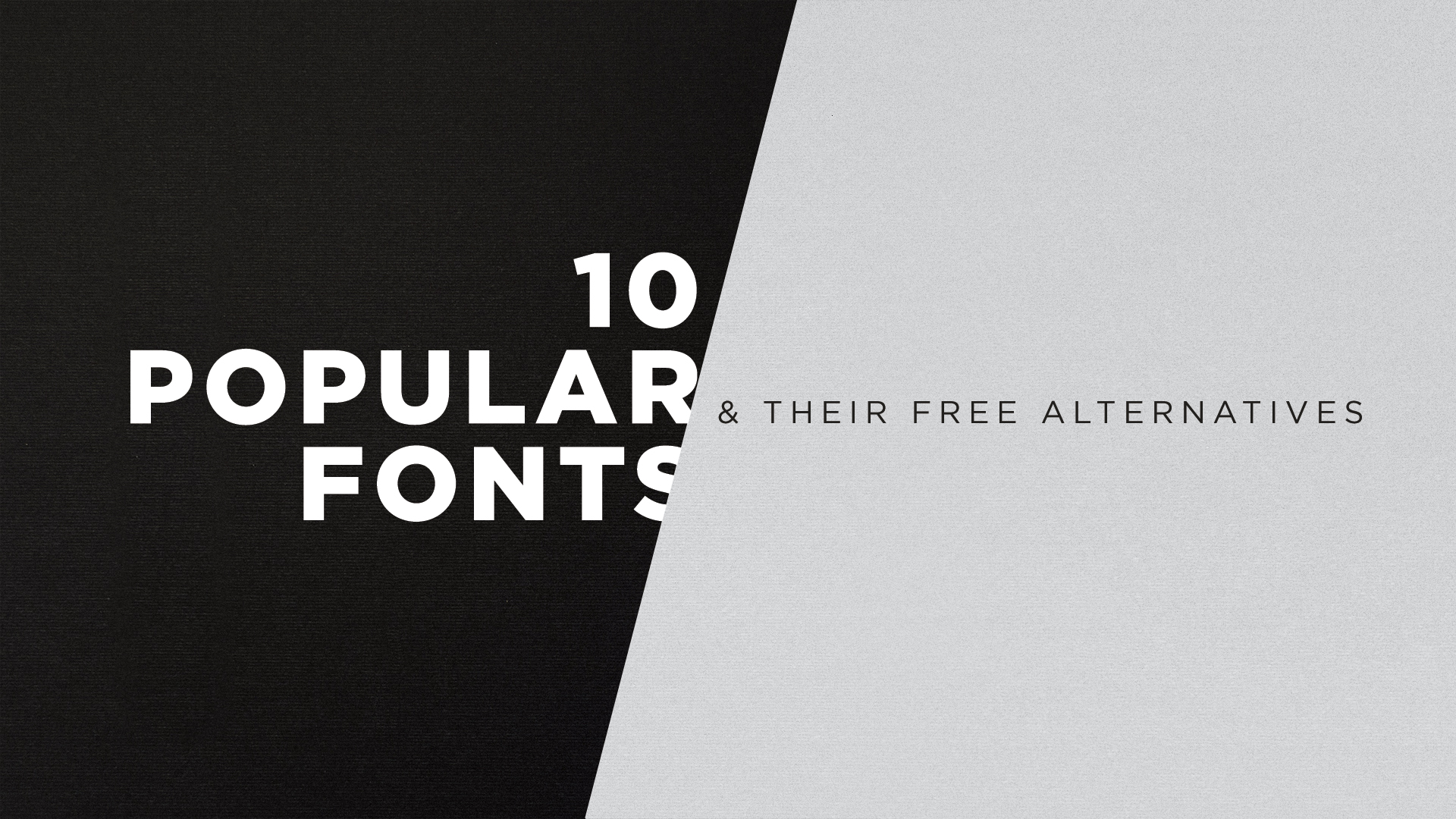Free Fonts: Ten Popular Fonts & Their Free Alternatives - Igniter Blog
